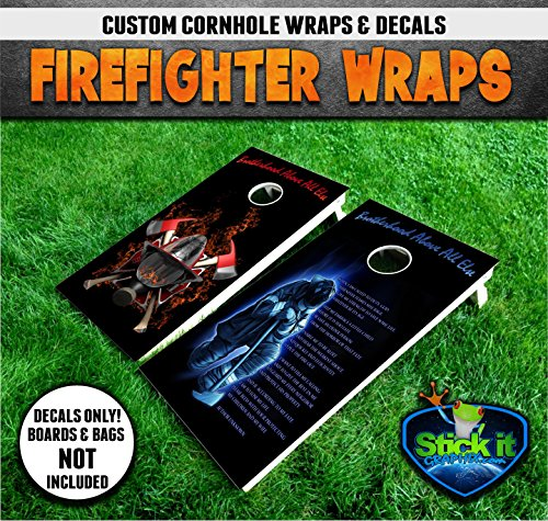 Firefighter #1 Cornhole Wrap set, 2 decals (24