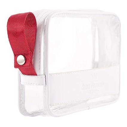 Saint Maniero Bolsa cosméticos Transparente I Neceser Transparente con Cremallera I Bolsa de Aseo 1 litro I Bolsa de Viaje Aprobado por la TSA I ...