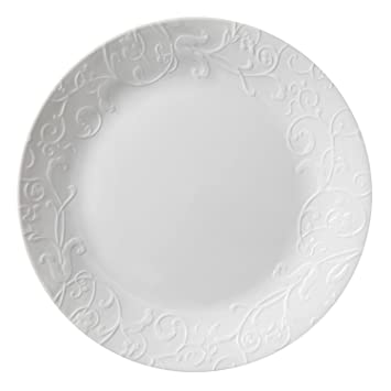 Amazon.com | Corelle Embossed Bella Faenza 10.25  Dinner Plate (Set of 4) Dinner Plates  sc 1 st  Amazon.com : corelle dinner plates - pezcame.com