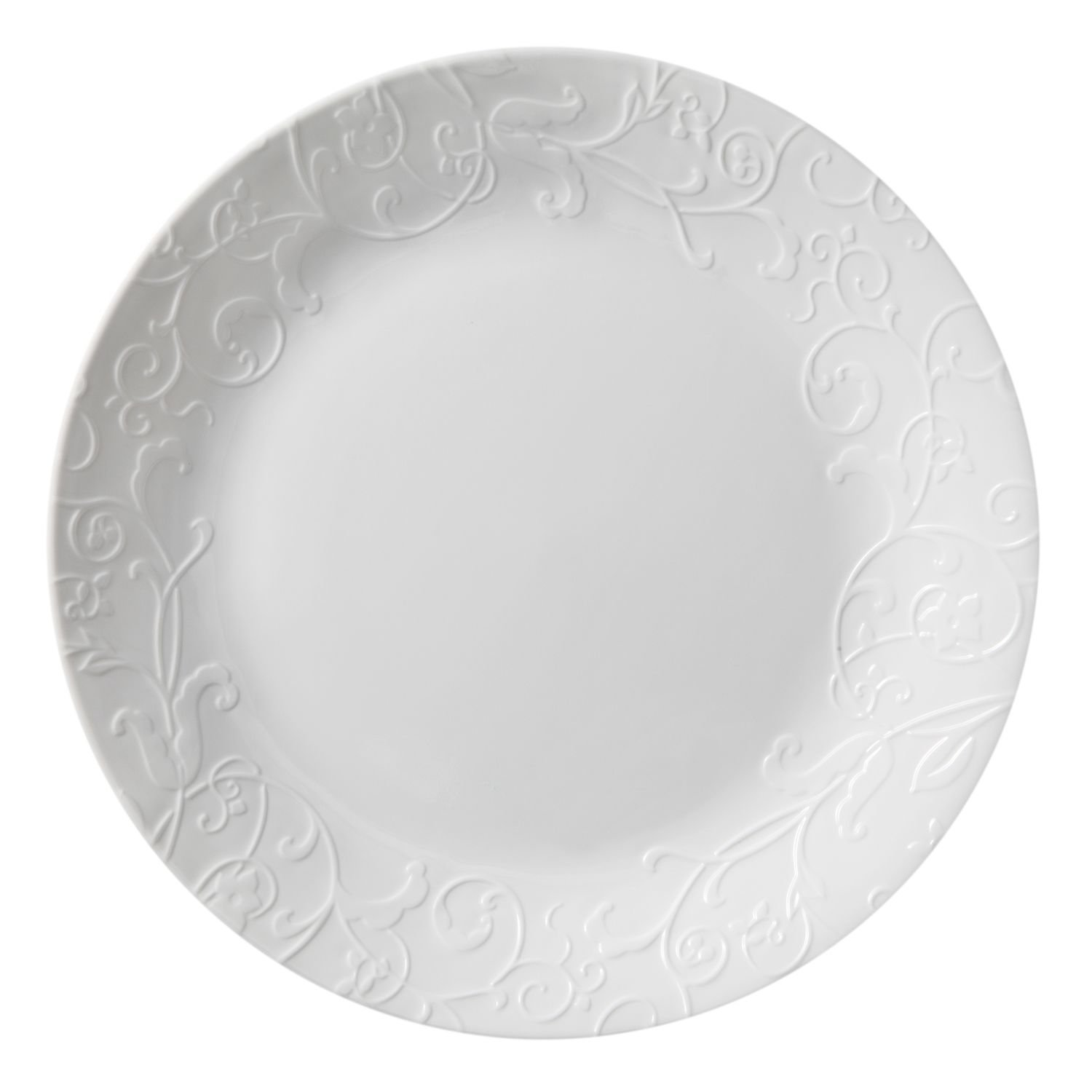 Corelle Embossed Bella Faenza 10.25'' Dinner Plate (Set of 8)