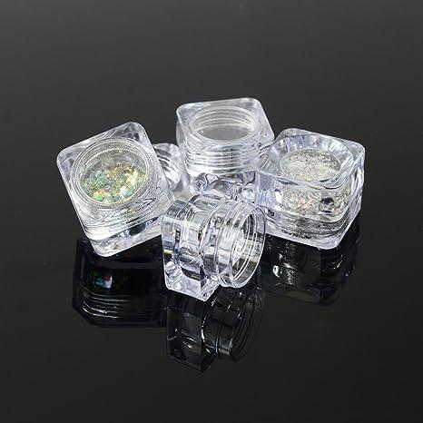 cd9c10aca935 Amazon.com : 50pcs Super Empty Jar Nail Art Box/Case/Container ...