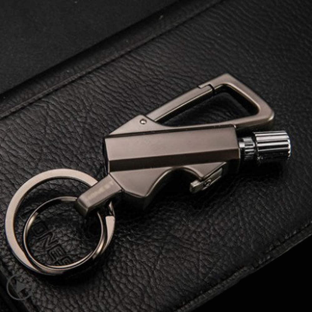 Multi Fire Starter Emergency F-lint Match Lighter Camping Survival Keychain Tool