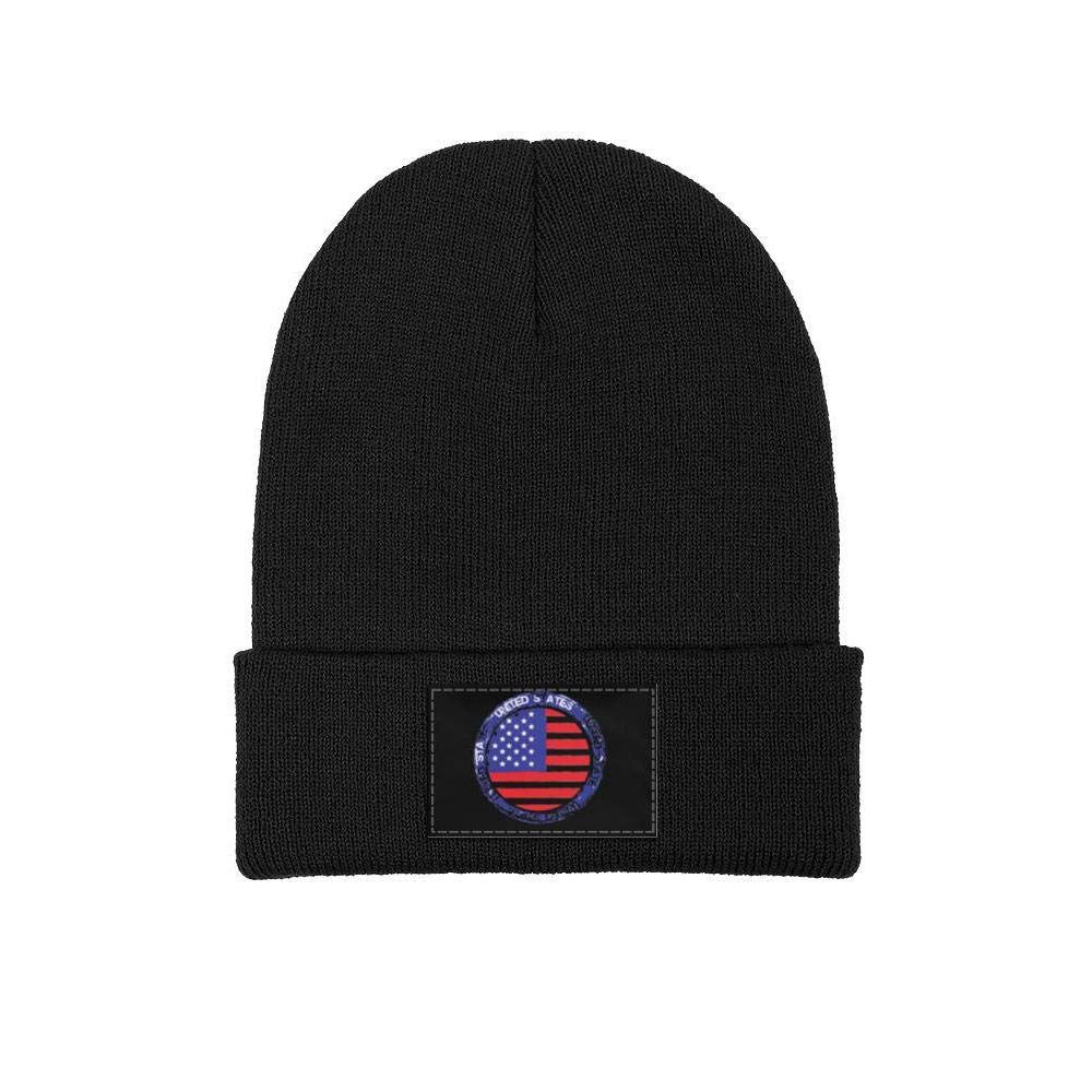 FYFYOK Men Slouchy Beanie Hat Winter Hats Displaying The American Flag Sign Ski Cap