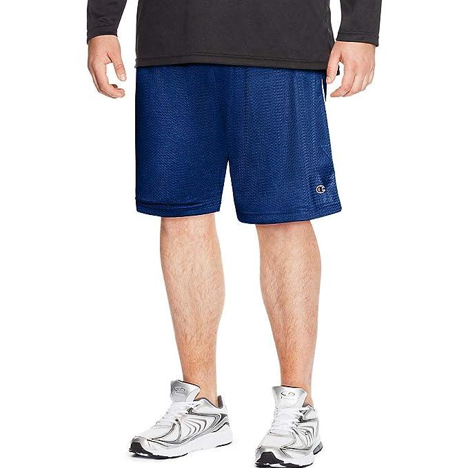 Champion Mens Big-Tall Mesh Short with Piping
