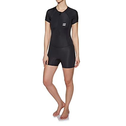 2215c12bb6 Billabong Synergy 1mm 2018 Front Zip Shorty Womens Wetsuit UK 6 Reg Black