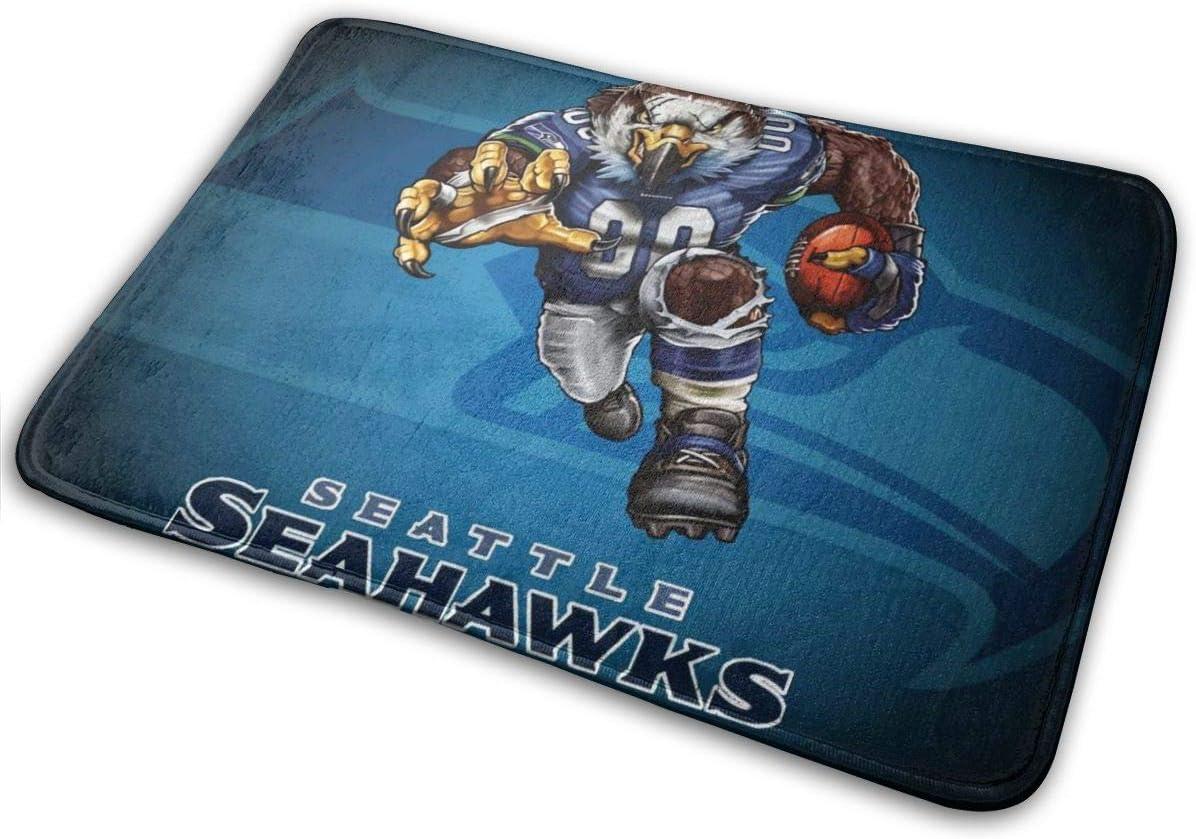 Azhangljqn Mat Seattle Seahawks Floor mat 15.7inch23.6inch, for Doorway Kitchen Bathroom Door Entry Laundry Room Bedroom Carpet.