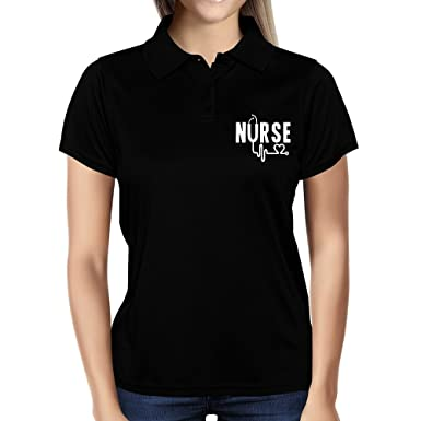 Amazon.com: Idakoos - Nurse cool design - Occupations - Women Polo ...