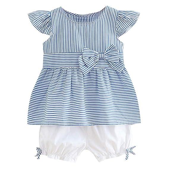 842c6e4da Luckycat Vestido para Bebés, Ropa Bebé Niñas Vestidos a Rayas de ...