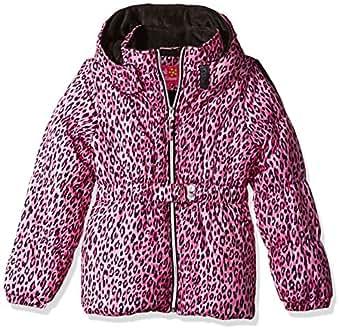 Pink Platinum Little Girls' Toddler Cheetah Print Puffer Jacket, Pink, 2T