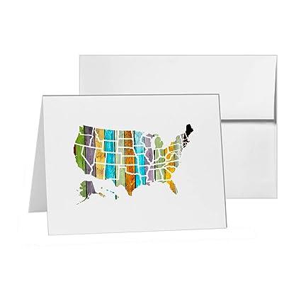 Amazon.com : United States America Map Geography Borders ...