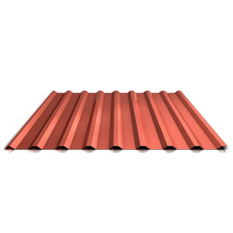 Profil PS20//1100TRA Farbe Kupferbraun Dachblech Material Stahl St/ärke 0,75 mm Beschichtung 25 /µm Profilblech Trapezblech