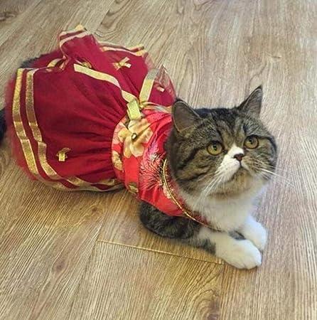 liangh Traje De Gato,Vestido De Caballero,Mascotas Vestidos De Princesa para Bodas De Gatos,Traje De Navidad para Año Nuevo con Ropa De Cola Golondrina,J-M: Amazon.es: Hogar