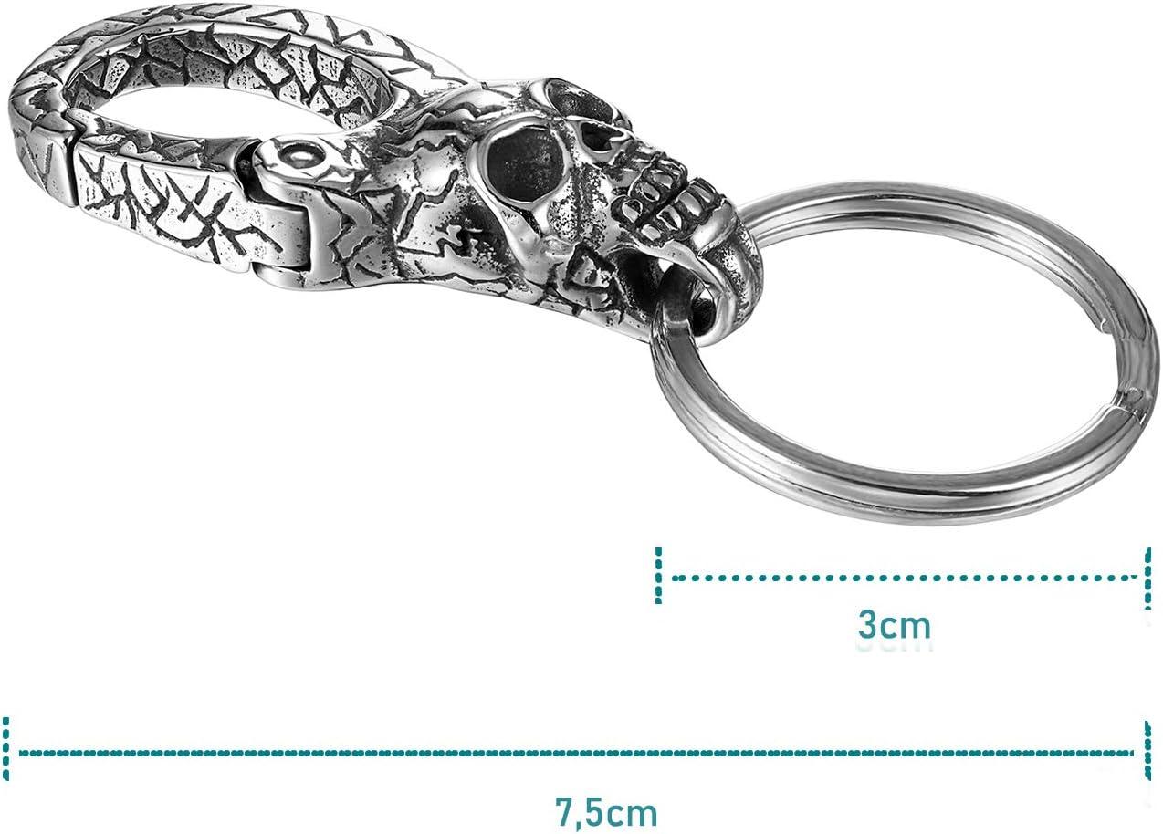 Argent/é - ZL-KC01-skull cr/âne Ziilay Porte-cl/és