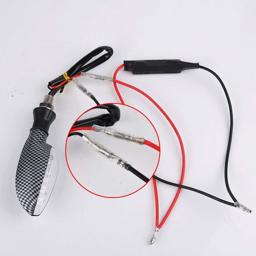 Ibeutes 2pcs Motorcycle Turn Signal Indicator Moto Led Load Resistor Wiring Resistors Flash Fix Error 12v Universal