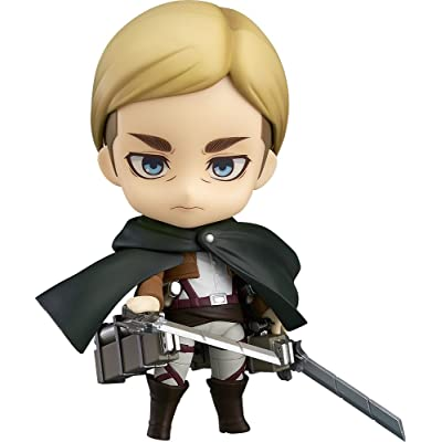 Good Smile Attack On Titan Commander Erwin Smith Nendoroid Action Figure: Toys & Games