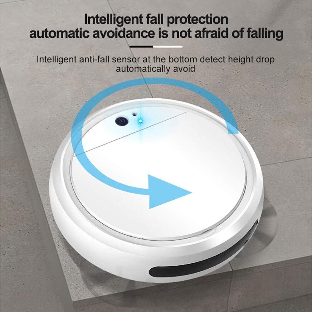 LXRZLS Multifonctionnel Intelligent Robot de Balayage 7-en-1 Aspirateur Automatique Portable Rechargeable Forte Aspiration sans Fil Robot de Nettoyage (Color : C) B