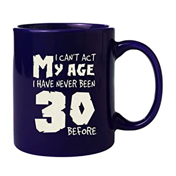 30th Birthday Gift Engraved Ceramic Mugs For Husband DAD Son Both Sides Etched Withquot