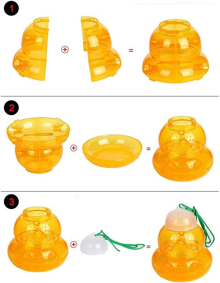 Gourd-Shaped Bee Wasp Traps Hornets Bait Attract Bee-Keepers Physical Traps Capture Flies Harmful Wasps Cricket Breeding Cage