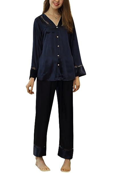 Dolamen Pijamas Camisón para Mujer, 2018 Mujer Largo Camisones Raso Satin Hueco Pijamas, Lencería