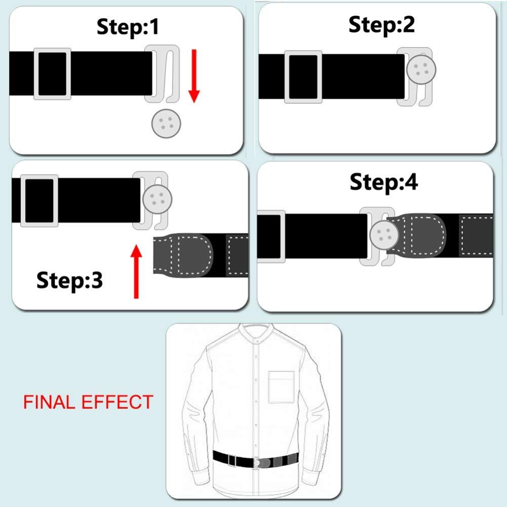 Hankyky T-Shirt Bandage Anti-Rides,Ajustable Pr/ès de Shirt-Shirt Holder Adjustable Near Shirt Stay Best Tuck It Belt for Women Men Work Interview