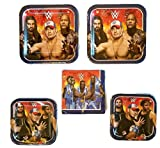 Grand Slammin' WWE Birthday Party Bundle 9'' Plates (16) 7'' Plates (16) Lunch Napkins (16)