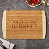 Cutting Board by HomeWetBar | Personalized Durable Engraved Bamboo Wood - Perfect Gift for Wedding or Any Occasion …