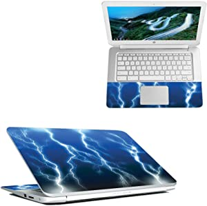 """Mightyskins Skin Compatible with Hp Chromebook 14"""" (2018) - Lightning Storm   Protective, Durable, and Unique Vinyl Decal Wrap Cover   Easy to Apply, Remove, and Change Styles   Made in The USA"""