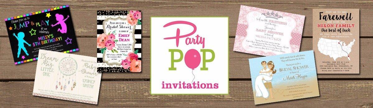 amazon com party pop invites handmade