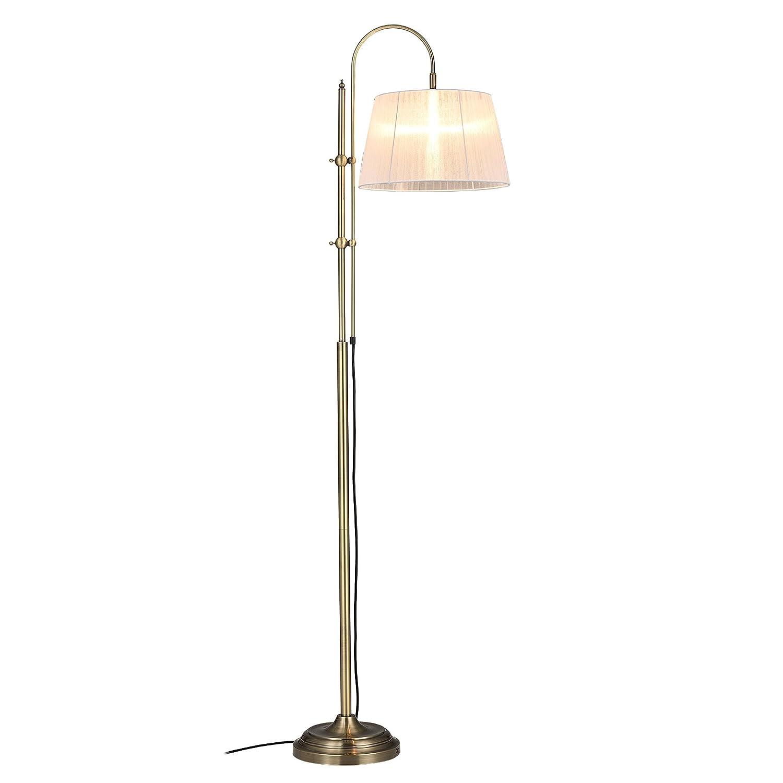 [lux.pro] Stehleuchte - Weiß Bow - (1 x E27 Sockel)(170 Sockel)(170 Sockel)(170 cm x Ø 35 cm) Stehlampe Fußbodenlampe Zimmerlampe Wohnzimmerlampe [Energieklasse A+++] 07b415