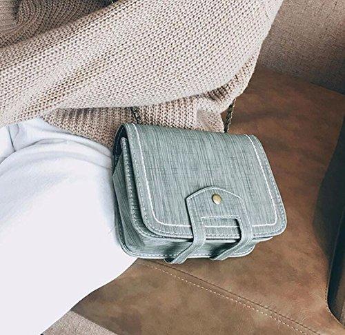 KPHY-Moda Hombro Mini Bolso Pequeño Repujados Cadena Bolsa Mochila Todo El Partido.Black gray