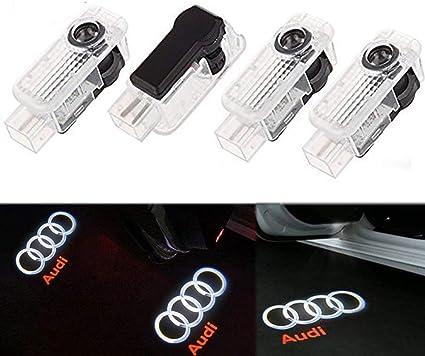 ALBRIGHT 4 piezas de LED proyector puerta logotipo de la sombra de ...