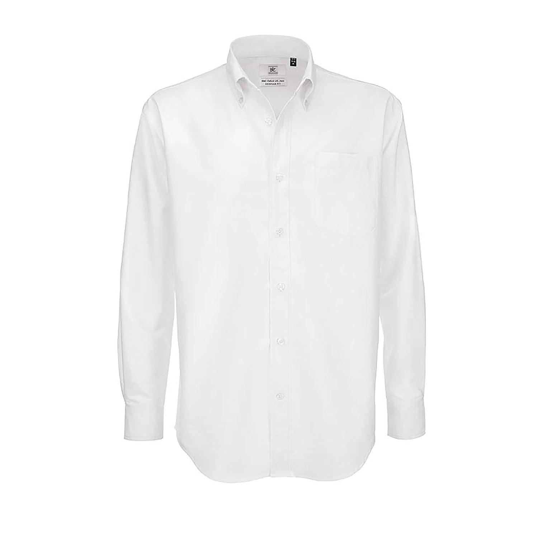 B&C - Camisa de manga larga Modelo Oxford (Tallas grandes) para Hombre Caballero - Fiesta/Trabajo/Eventos… yiEXy