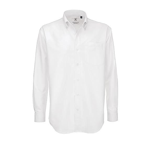 B&C - Camisa de manga larga Modelo Oxford (Tallas grandes) para Hombre Caballero -