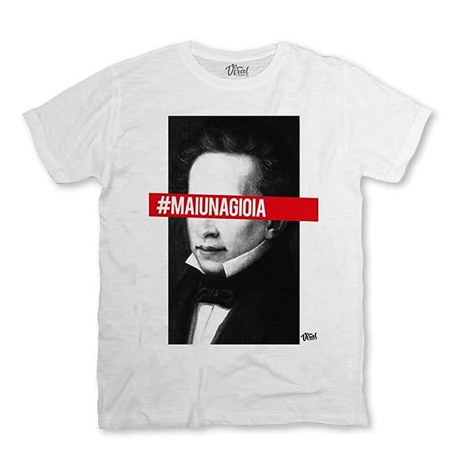 Viral T-shirt - Camiseta - para hombre Bianco Medium: Amazon.es: Ropa y accesorios
