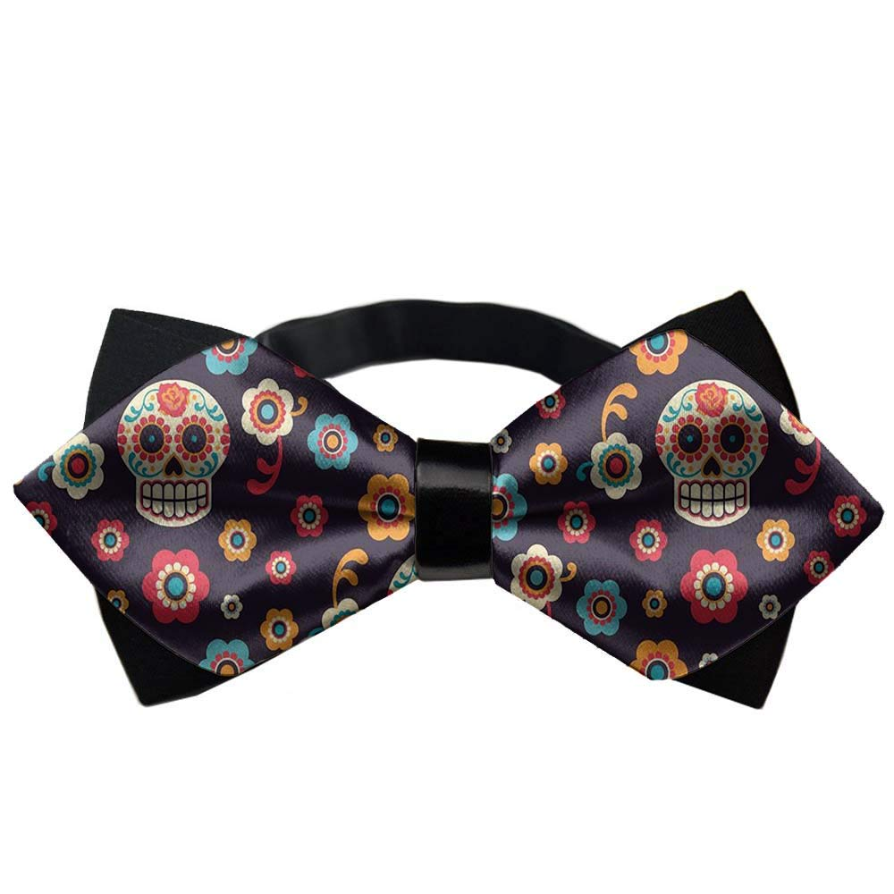 Durable Polyester Neckties Classic Mens Bow Ties Adjustable Satin Pre-Tied