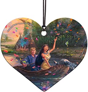 Trend Setters Disney - Pocahontas - Heart Shaped Hanging Acrylic Decoration – Perfect for Gifting or Collecting