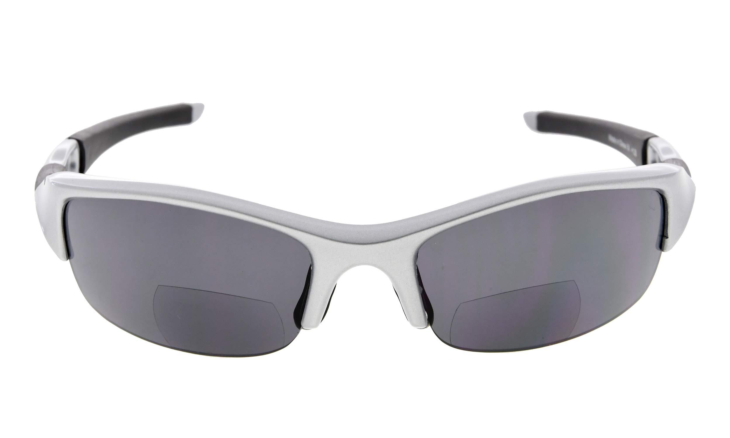 7bd8735aee323 Eyekepper TR90 Unbreakable Half-Rim Sports Bifocal Sunglasses Baseball  Running Fishing Driving Golf Softball Hiking Reading Glasses ...