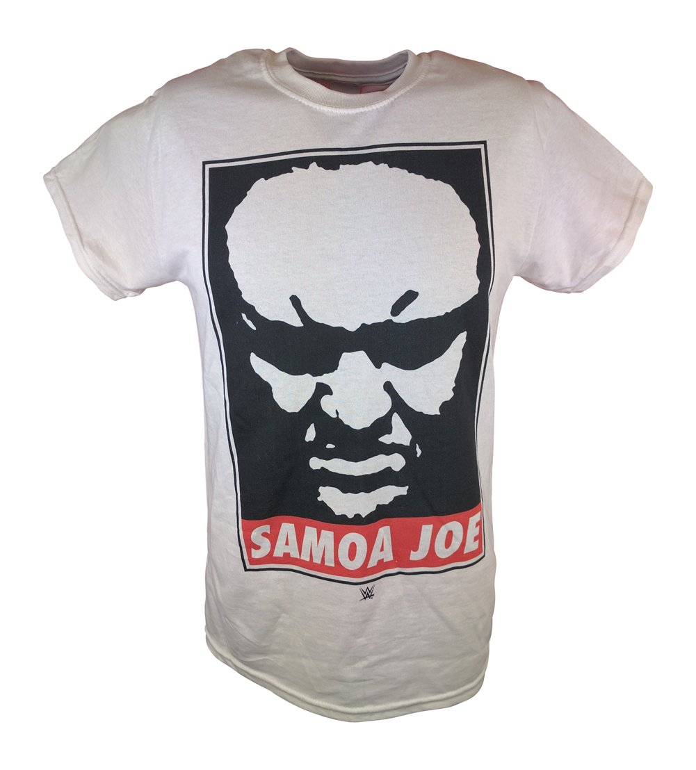 Samoa Joe Submission Machine WWE Mens White T-shirt-5XL