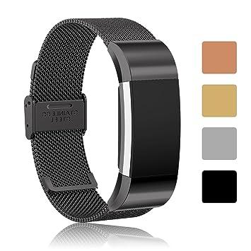 iFeeker– Recambio de correas Milanese para el reloj inteligente Fitbit Charge 2,
