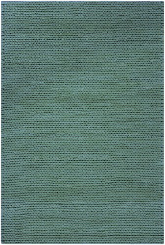 Diva At Home 8' x 10' Bright Day Solid Robin's Egg Blue New Zealand Wool Area Throw Rug (8' New Zealand Wool)