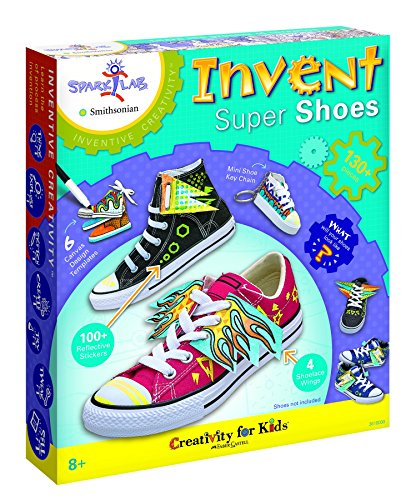 Creativity for Kids Spark!Lab Smithsonian Invent Super Shoes Coloring Kit