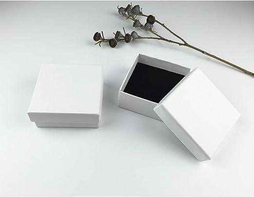 Alamor 1 Unids Kraft Jewelry Caja De Embalaje De Caja Blanca Caja ...
