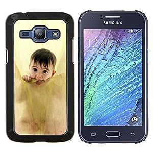 EJOOY---Cubierta de la caja de protección para la piel dura ** Samsung Galaxy J1 J100 ** --Fresa