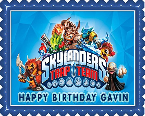 Skylanders Trap Team Edible Cake OR Cupcake Topper - 7.5 x 10' rectangular inches