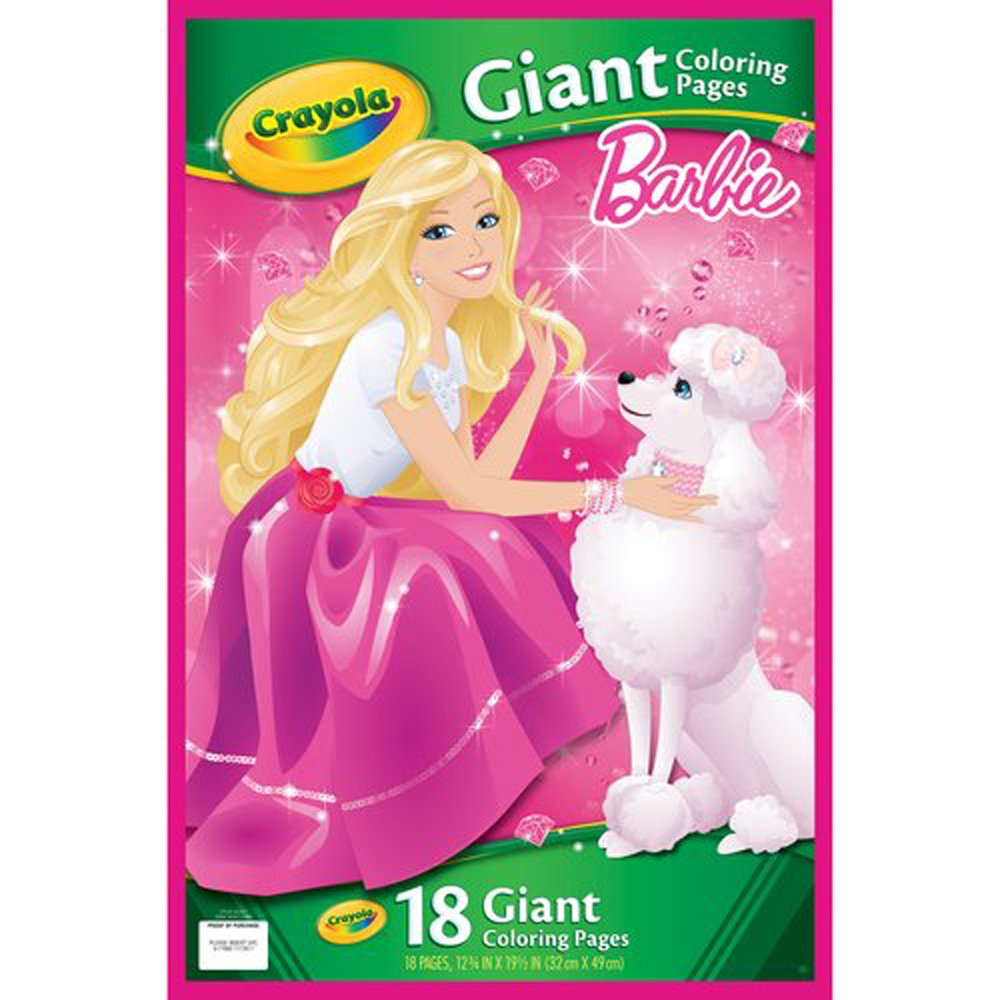 Amazon.com: Crayola Barbie 18 Giant Coloring Pages: Toys & Games
