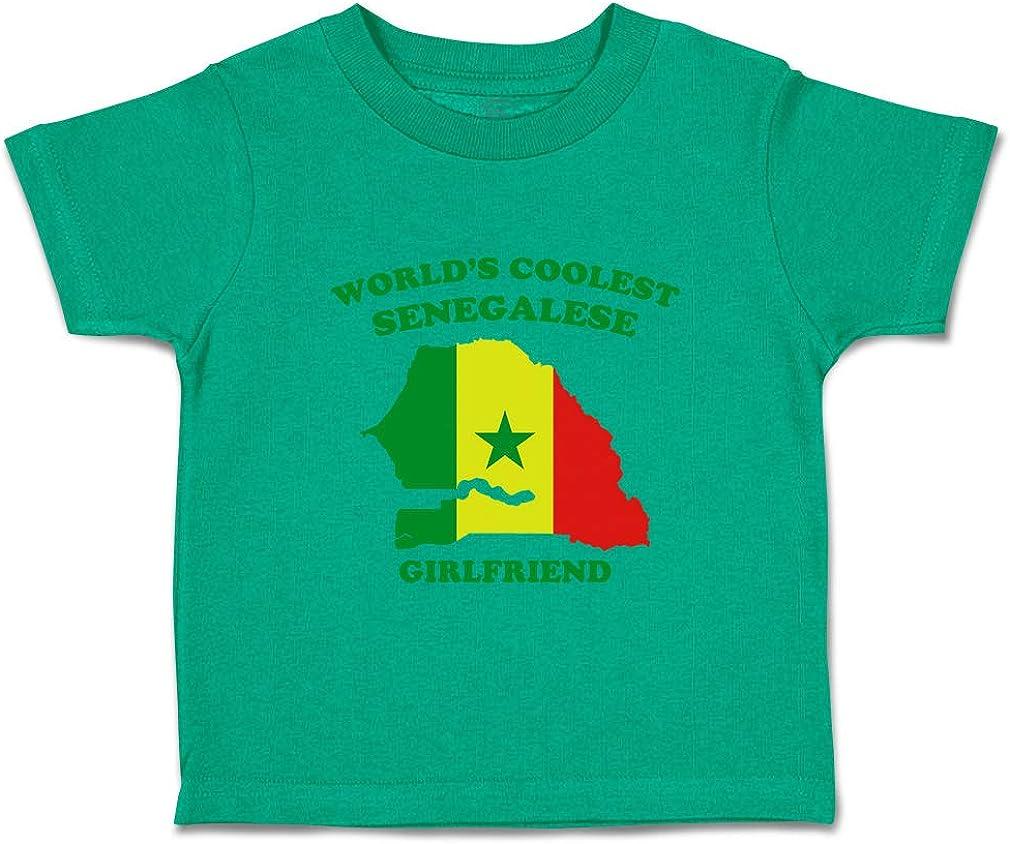 Custom Baby /& Toddler T-Shirt Worlds Coolest Senegalese Girlfriend Cotton