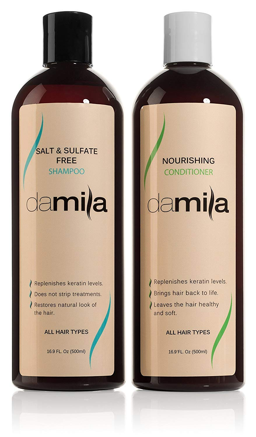 Salt & Sulfate Free Shampoo And Nourishing Conditioner – Keratin Complex By Damila