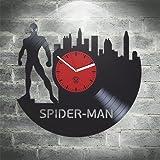 Spider Man Vinyl Clock, Kovides Vinyl Wall Clock, Home Decor, Comics Marvel, DC Movie, Vinyl Wall Clock, Wall Clock Vintage, Birthday Gift, Silent Mechanism, Wall Sticker, Home Decor