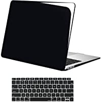 MOSISO MacBook Air 13 Inch Case 2019 2018 Release A1932 with Retina Display,Plastic Hard Shell Case & Keyboard Skin Cover Only Compatible with MacBook Air 13 with Touch ID, et Black