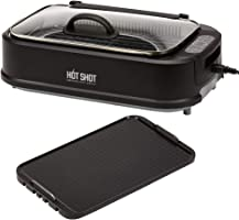 Hot Shot Indoor Electric Smokeless Grill – Indoor/Outdoor Use | Electric, Compact & Portable Grilling | Grill Grate and...